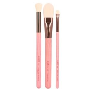 Luxie BC 3 Piece Gaea Brush Set Foundation/Eye